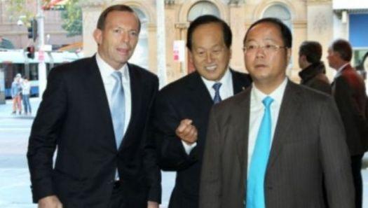 Tony Abbott Huang Xiangmo